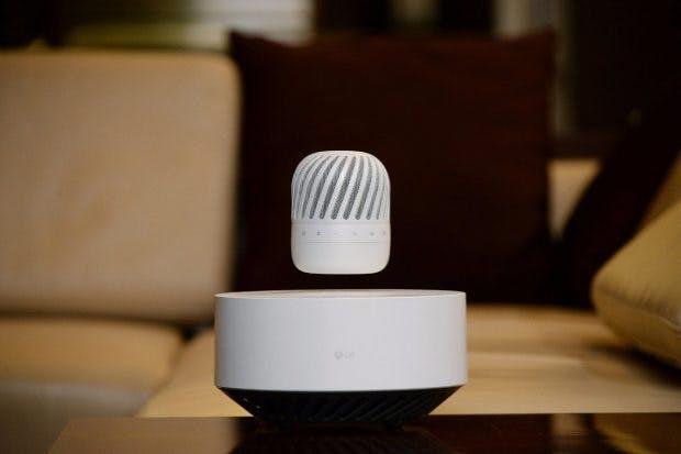 """""""Levitating Portable Speaker"""": LG zeigt ungewöhnlichen Bluetooth-Lautsprecher. (Foto: LG)"""
