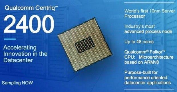 ARM-SoC für den Server-Bereich: Qualcomm will 2017 mit der Serienproduktion des Centriq 2400 beginnen. (Grafik: Qualcomm)