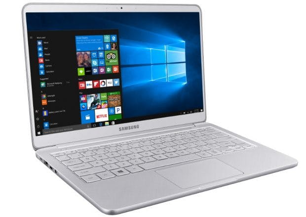 Notebook 9: Windows-10-Gerät mit 13,3-Zoll-Display. (Bild: Samsung)