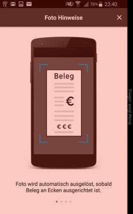 Apps für die Mittagspause: Mit Lunchit Rechnung einscannen und Zuzahlung kassieren. (Screenshot: Spendit)