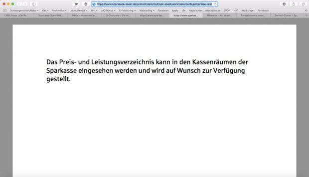 (Screenshot: Sparkasse-Soest.de)