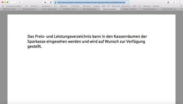 (Screenshot: Sparkasse-Soest.de)