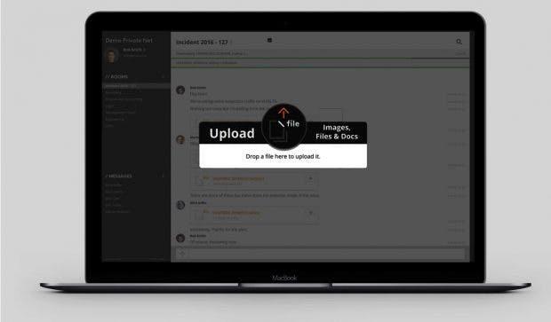Wickr Professional: Office-Chat für Unternehmen ermöglicht das sichere Teilen von Dateien bis zu einem Gigabyte Größe. (Screenshot: Wickr/t3n)