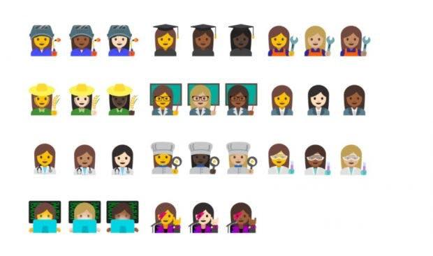 Android 7.1.1 Nougat hat unter anderen neue Emoji an Bord. (Bild: Google)