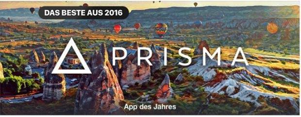 Prisma ist nach Meinung der iTunes-Redaktion die iPhone-App des Jahres. (Bild Apple)