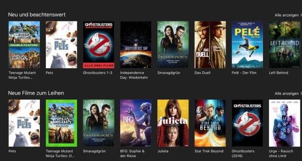 Wird das Film-Angebot auf Apples iTunes bald aktueller sein? (Screenshot: t3n; Apple)