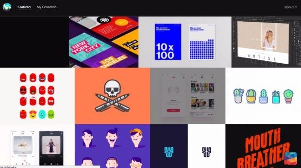 New-Tab-Erweiterung für den Chrome-Browser: Design Hunt ist eine tolle Inspirationsquelle. (Screenshot: Design Hunt)