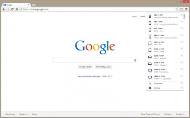 """MIt dem """"Window Resizer"""" testet ihr responsive Webseiten. (Screenshot: Google)"""