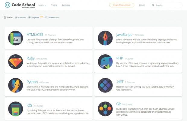 (Screenshot: codeschool.com)