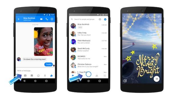 Nächster Seitenhieb auf Snapchat: Facebook Messenger bekommt Kamera mit Lenses