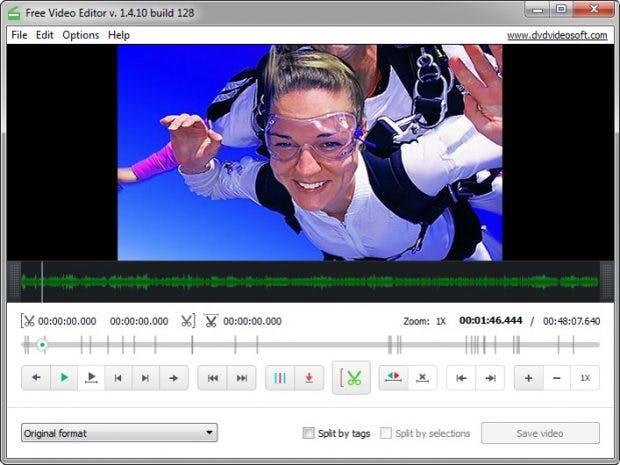 Der Free Video-Editor kann mit unterschiedlichsten Formaten umgehen. (Screenshot: DVD Video Soft)