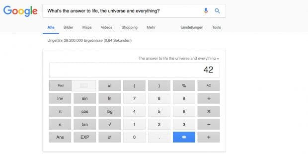 Google kennt die Antwort auf die Frage nach dem Sinn des Lebens. (Bild: t3n; Google)