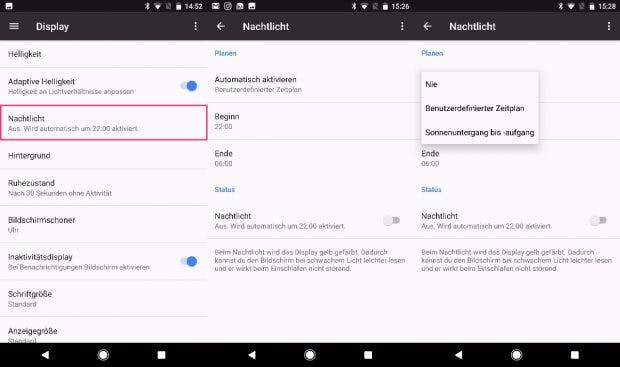 Der Blaulichtfilter ist bislang Pixel-Exklusiv. Auf ältere Nexus-Geräte wird er nicht kommen, womöglich aber auf Smartphones anderer Hersteller. (Bild: t3n)