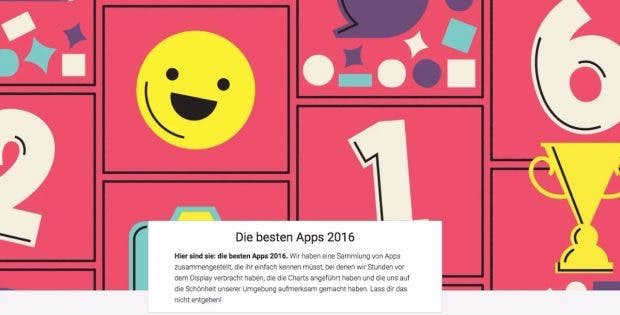 Neben den besten Apps hat Google viele weitere Inhalte gekürt. (Bild: Google)