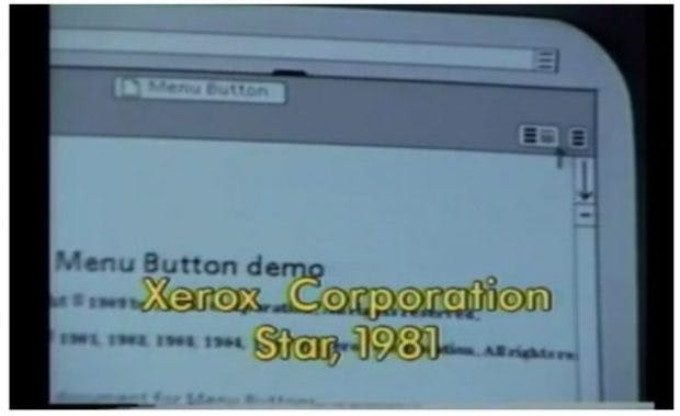 "Der Screenshot stammt aus Brad Myers Video ""All the Widgets""."