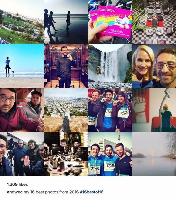 Persönlicher Instagram-Jahresrückblick – #16bestof16. (Grafik: #16bestof16)