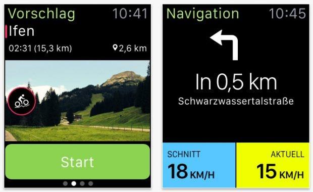 Konoot: Fahrradfaher und Wanderer finden hier interessante Strecken. (Screenshot: App-Store)