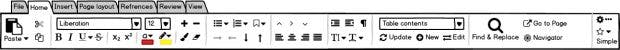 Libreoffice: Die Notebook-Bar unterstützt auch Tabs. (Grafik: The Document Foundation)