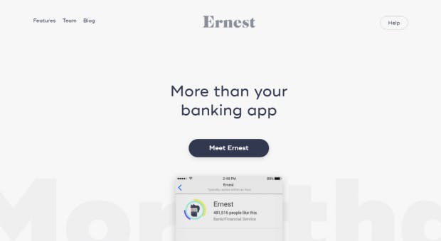 Ernest.AI ist ein ziemlich radikales Beispiel, das bei den diesjährigen Awwwards Erwähnung fand. (Screenshot: t3n)