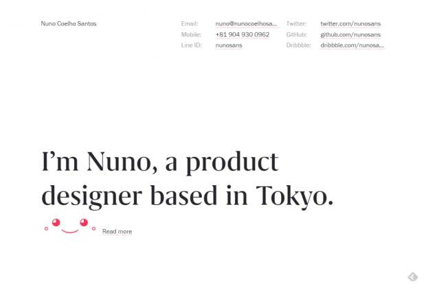Online-Portfolio: Ein Beispiel einer guten Umsetzung. (Screenshot: t3n)