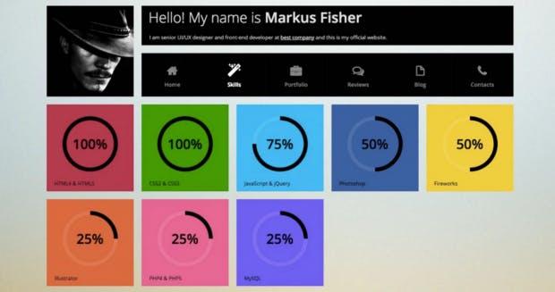 Online-Portfolio: Alles unter 100 Prozent hat keine Aussagekraft. (Screenshot: t3n)