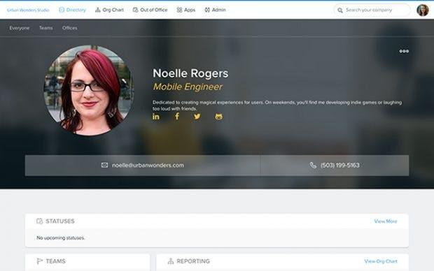 Pingboard ist Mitarbeiterverzeichnis, Organigramm und mehr. (Screenshot: Pingboard)
