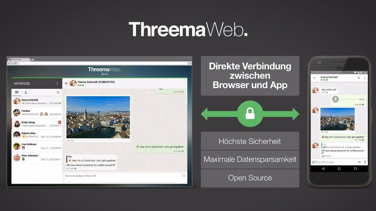 Threema Web: Whatsapp-Alternative ab sofort mit Desktop-Unterstützung