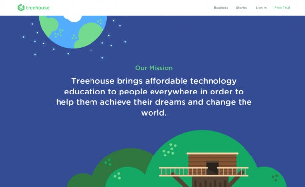 (Screenshot: treehouse.com)