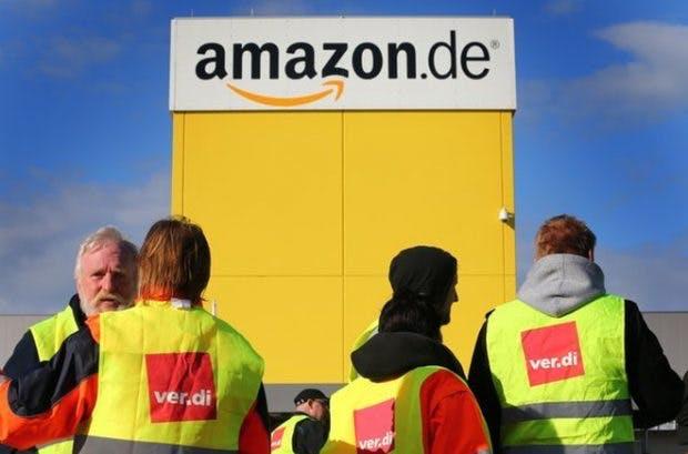 Amazon: Schon seit Jahren versucht Verdi das Unternehmen zum Abschluss eines Tarifvertrages zu bewegen. (Foto: dpa)