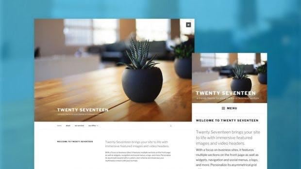 WordPress 4.7 bringt das neue Standard-Theme Twenty Seventeen mit. (Grafik: About-Seite eigener WordPress-Installation)
