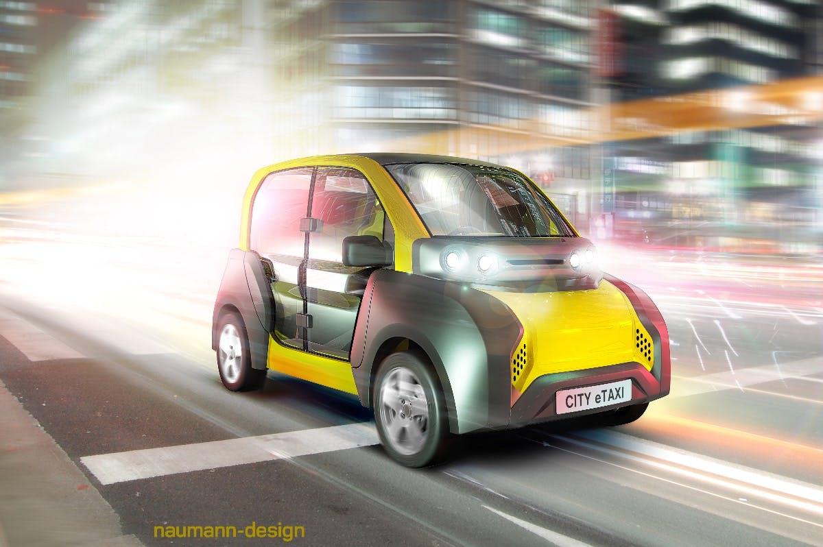 City Etaxi: ACM präsentiert schickes E-Leichtfahrzeug auf der Cebit 2017