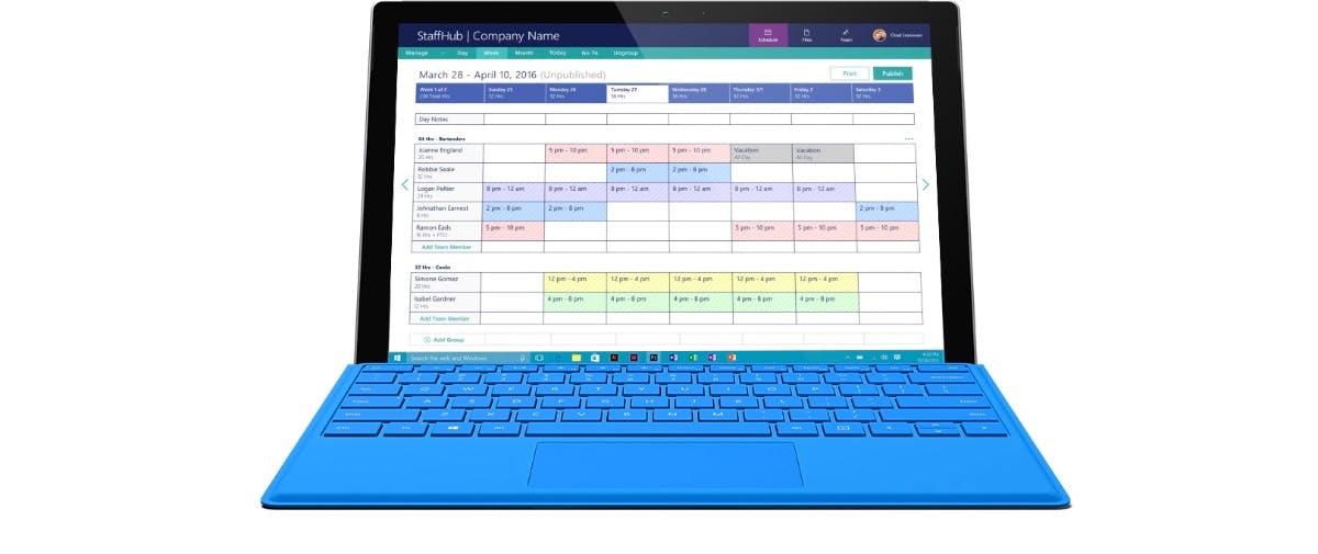 Staffhub: Neues Management-Tool von Microsoft erleichtert Dienstplanung für Mitarbeiter