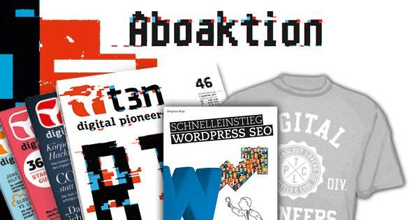 """t3n-Abo inklusive """"Schnelleinstieg WordPress SEO"""" von Franzis"""