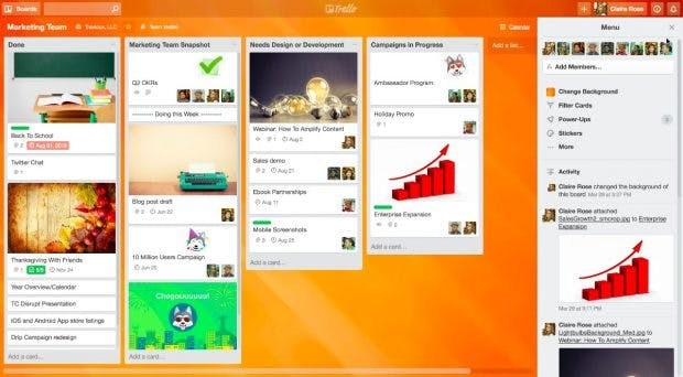 Atlassian will Trello als eigenständiges Werkzeug weiterentwickeln. (Screenshot: Trello)