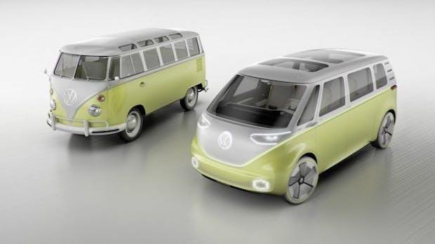 VW stellt Elektrobus ID Buzz vor – und will an den T1-Klassiker anknüpfen