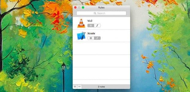 macOS: Mit Fluor könnt ihr bequem festlegen, wie sich die Funktionstasten je nach aktiver App verhalten sollen. (Screenshot: Fluor 1.0)