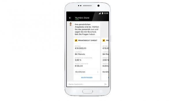 Über den Numbrs Store können Kunden direkt verschiedene Finanzprodukte kaufen. (Grafik: Centralway Numbrs)