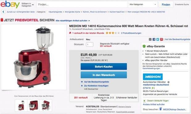Ebay-SEO: Produktlistings optimieren, um mehr zu verkaufen. (Screenshot: Ebay)
