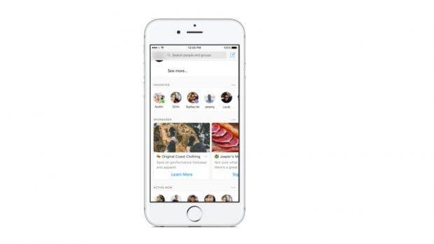 Facebook platziert die ersten Anzeigen in der Messenger-Übersicht. (Bild: Facebook)