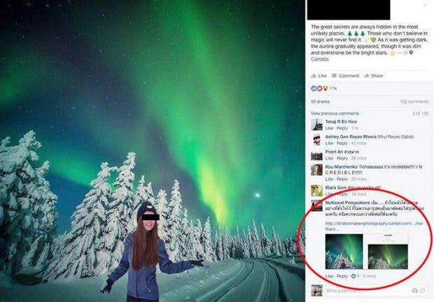 Flugbegleiterin Louktar Ticha war ein Instagram-Star bis man ihr Photoshop-Betrug nachwies. (Screenshot: Boredpanda.com)