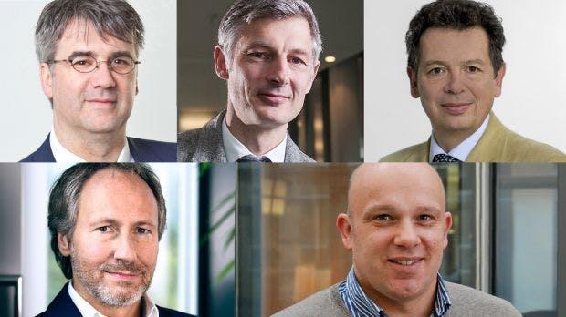 Umfrage-Teilnehmer Biermann, Stroh, Malgara, Frank und Ambrus (v.l.)