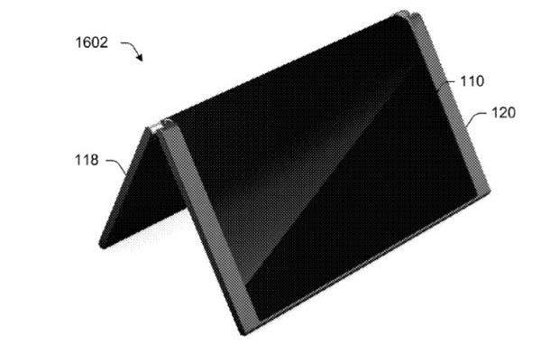 Smartphone und Tablet in einem: Das von Microsoft patentierte 2-in-1-Device. (Bild: USPTO/Microsoft)