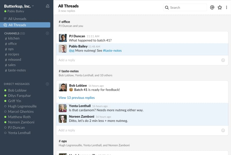 Mehr Überblick: Slack bekommt Threads