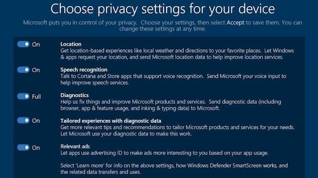 Windows 10: Microsoft führt endlich bessere Datenschutzoptionen ein