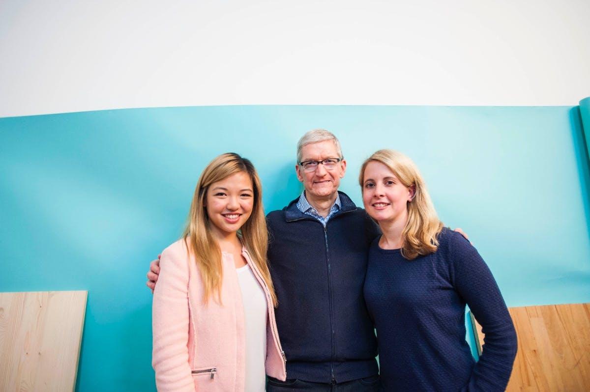 Wie zwei Gründerinnen den Apple-Chef überzeugten, ihr Startup zu besuchen