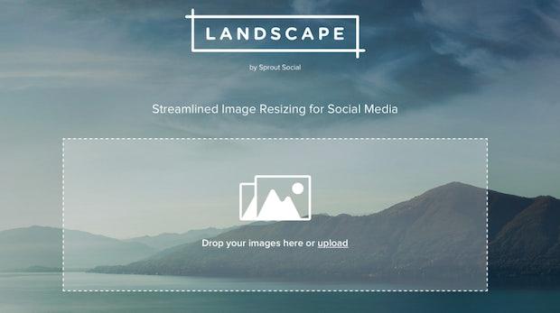 Landscape: Kostenlose Web-App passt dein Bildmaterial für Social Media an