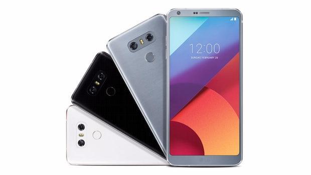 Das LG G6 wird in den Farben Mystic White (Weiß), Astro Black (Schwarz) und Ice Platinum (Silber) erhältlich sein. (Bild: LG)