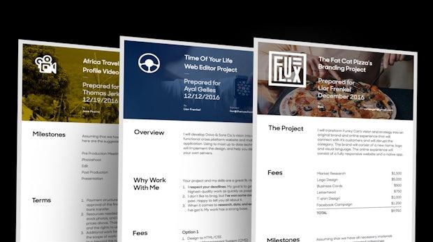 Extrem schick: Prospero erleichtert Designern das Erstellen von Angeboten