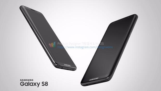 Samsung-Galaxy-S8-Renderbild. (Bild: Designwoos)