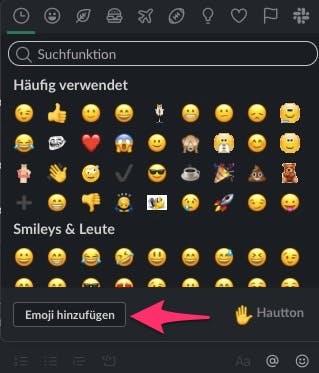 Eigene Emoji lassen sich auch direkt über den Messenger hinzufügen. (Screenshot: t3n)